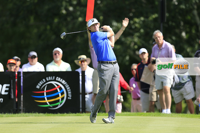 Brandt Snedeker (USA) tees off the 14th tee during Friday's Round 1 of the 2013 Bridgestone Invitational WGC tournament held at the Firestone Country Club, Akron, Ohio. 2nd August 2013.<br /> Picture: Eoin Clarke www.golffile.ie
