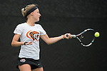 April 22, 2015; San Diego, CA, USA; Pacific Tigers tennis player Hana Ritterova during the WCC Tennis Championships at Barnes Tennis Center.