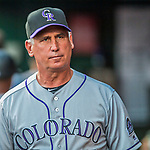 29 July 2017: Colorado Rockies Manager Bud Black walks the dugout during a game against the Washington Nationals at Nationals Park in Washington, DC. The Rockies defeated the Nationals 4-2 in the first game of their 3-game weekend series. Mandatory Credit: Ed Wolfstein Photo *** RAW (NEF) Image File Available ***