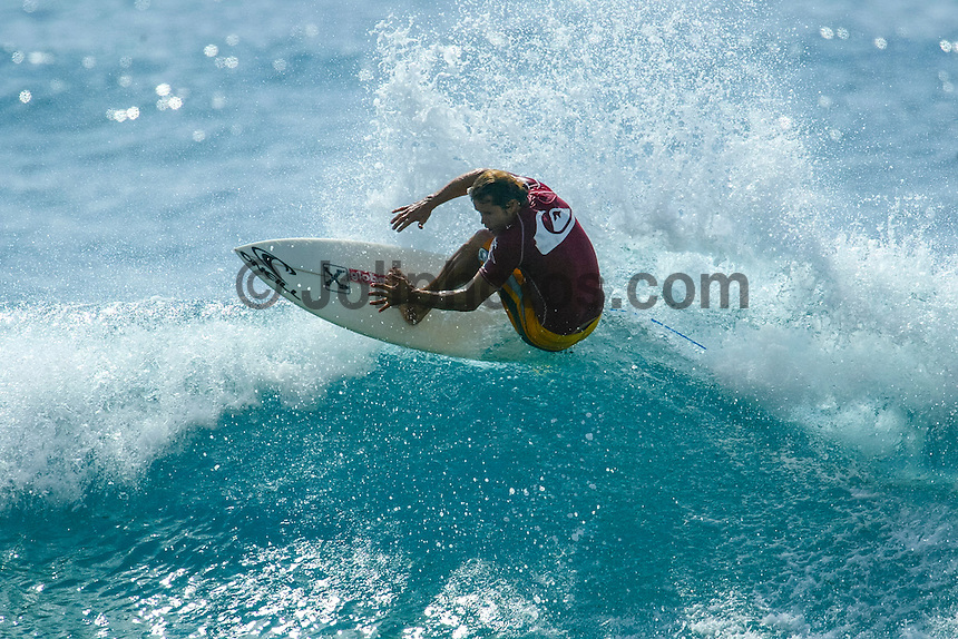 Makaha, Oahu, HAWAII – January 27, 2003 – The secret fountain of youth was discovered on the West Side of Oahu today, at Makaha Beach, where the finals of the Quiksilver Masters were held. 1978 world surfing championWayne Bartholomew (Australia) was back on the winner's dais, winning the final of the Grand Masters division (45 years and over) from 1979-1982 world champion Mark Richards (Australia). The final of the Masters (35 to 44years) was taken out for the third consecutive year by Gary Elkerton(Australia). Elkerton defeated Brad Gerlach (Encinitas, Ca.), the only American to reach the finals. The fourth and final day of the event basked in hot sunshine and perfect waves of four-to-six feet. Photo: joliphotos.com