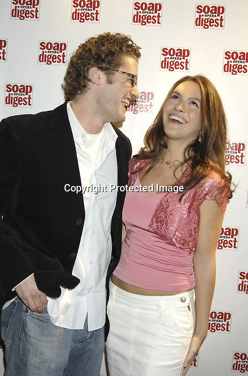 Chrishelle Stause and boyfriend actor Matthew Morrison..at the 30th Anniversary Party for Soap Opera Digest on ..November 17, 2005 at PM Lounge. ..Photo by Robin Platzer, Twin Images