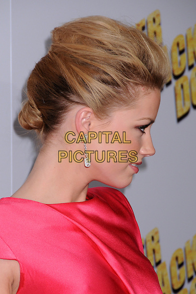"""AMBER HEARD.""""Never Back Down"""" World Premiere at the Cinerama Dome, Hollywood, California, USA..March 4th, 2008.headshot portrait profile dangling earrings .CAP/ADM/BP.©Byron Purvis/AdMedia/Capital Pictures."""