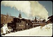 #480 pushing on a tank train east of Chama.<br /> D&amp;RGW  e. of Chama, NM  Taken by Gildersleeve, Thomas H.