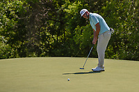 Scott Piercy (USA) watches his putt on 9 during round 1 of the AT&amp;T Byron Nelson, Trinity Forest Golf Club, at Dallas, Texas, USA. 5/17/2018.<br /> Picture: Golffile | Ken Murray<br /> <br /> <br /> All photo usage must carry mandatory copyright credit (&copy; Golffile | Ken Murray)