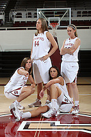 STANFORD, CA - SEPTEMBER 28:  (Not in order) Hannah Donaghe, Ashley Cimino, Jeanette Pohlen, and Kayla Pedersen during picture day on September 28, 2009 at Maples Pavilion in Stanford, California.