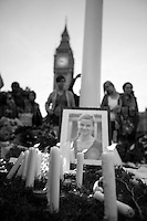 """Vigil & Memorial for Jo Cox MP in London's Parliament Square"" (Jo Cox was a Labour Member of Parliament who was brutally killed by the far-right extremist Thomas Mair on the 16th of June 2016).<br />