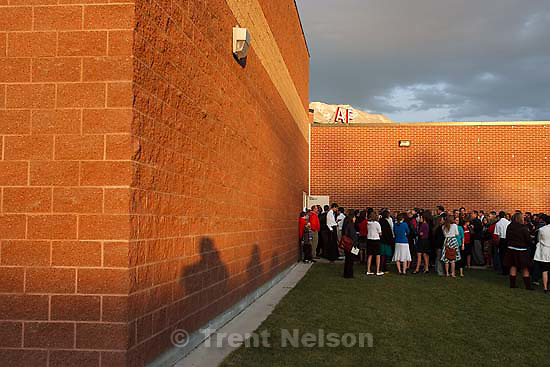A memorial service was held at American Fork High School Sunday, October 11 2009 to pay tribute to teacher Heather Christensen, who died in a bus crash after attempting to re-gain control of the bus. trent shadow