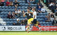 Preston North End's Louis Moult and Southampton's Wesley Hoedt<br /> <br /> Photographer Stephen White/CameraSport<br /> <br /> Football Pre-Season Friendly - Preston North End v Southampton - Saturday July 20th 2019 - Deepdale Stadium - Preston<br /> <br /> World Copyright © 2019 CameraSport. All rights reserved. 43 Linden Ave. Countesthorpe. Leicester. England. LE8 5PG - Tel: +44 (0) 116 277 4147 - admin@camerasport.com - www.camerasport.com