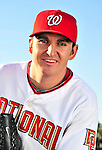 28 February 2010: Washington Nationals starting pitcher John Lannan poses for his Spring Training photo at Space Coast Stadium in Viera, Florida. Mandatory Credit: Ed Wolfstein Photo