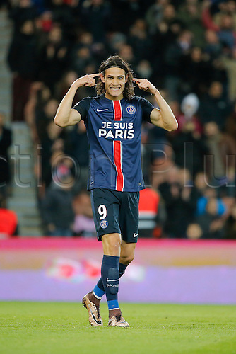 28.11.2015. Paris, France. French League 1 football. Paris St Germain versus Troyes.  Edinson Roberto Paulo Cavani Gomez (psg) (El Matador) (El Botija) (Florestan) celebrates the goal