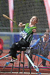 IPC European Athletics Championship 2014<br /> Catherine O'Neill (IRE) competing in the women's club throw F32/51.<br /> Swansea University<br /> <br /> 22.08.14<br /> &copy;Steve Pope-SPORTINGWALES
