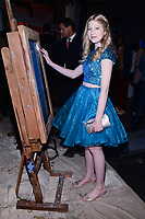 NEW YORK CITY - APRIL 20: Violet Young attends the National Geographic GENIUS: PICASSO Tribeca Film Festival after party at The Genius Studio, 100 Avenue of the Americas, in New York City on April 20, 2018 in New York City.  The Genius: Studio is an interactive installation designed to inspire people to create their own masterpieces. (Photo by Anthony Behar/National Geographic/PictureGroup)