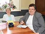 Kitty Knight and Sr. Mary Doonan pictured at the SOSAD coffee morning at Donore parish hall. Photo:Colin Bell/pressphotos.ie