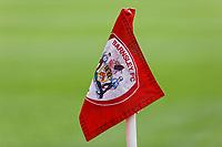A Barnsley corner flag prior to the Sky Bet Championship match between Barnsley and Swansea City at Oakwell Stadium, Barnsley, England, UK. Saturday 19 October 2019