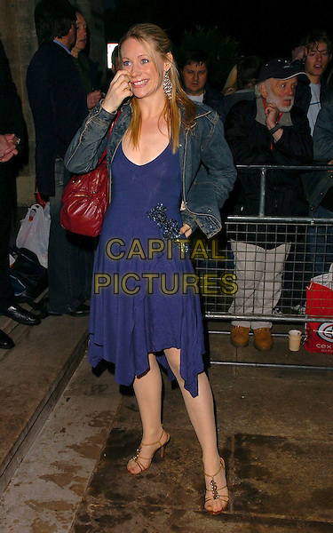 "KELLIE SHIRLEY.""Smokey Robinson: 50th Anniversary All Star Salute"" gala launch at the Grosvenor House Hotel, London, UK..May 24th, 2006.Ref: CAN.full length blue dress jean denim jacket.www.capitalpictures.com.sales@capitalpictures.com.©Capital Pictures"