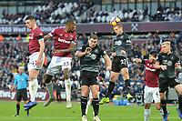 Matěj Vydra of Burnley heads clear during West Ham United vs Burnley, Premier League Football at The London Stadium on 3rd November 2018