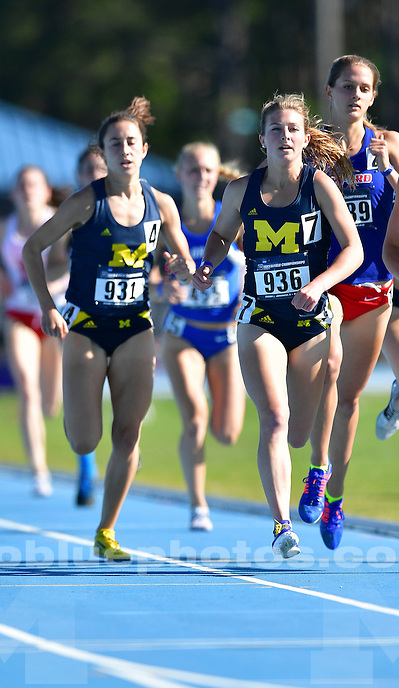 The University of Michigan women's track and field team compete in the NCAA Regionals in Jacksonville, Fla, on May 26-28, 2016.