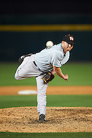 Norfolk Tides relief pitcher Jason Stoffel (40) during a game against the Buffalo Bisons on July 18, 2016 at Coca-Cola Field in Buffalo, New York.  Norfolk defeated Buffalo 11-8.  (Mike Janes/Four Seam Images)