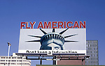 American Airlines billboard in Los Angeles circa 1969