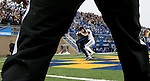BROOKINGS, SD - DECEMBER 3:  Dallas Goedert #86 from South Dakota State hauls in a pass for a touchdown in front of Malik Reaves #1 from Villanova during their second round playoff game Saturday afternoon at Dana J. Dykhouse Stadium in Brookings, SD. (Photo by Dave Eggen/Inertia)