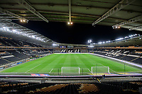 A general view of KCOM Stadium, home of Hull City AFC<br /> <br /> Photographer Chris Vaughan/CameraSport<br /> <br /> The EFL Sky Bet Championship - Hull City v Swansea City -  Friday 14th February 2020 - KCOM Stadium - Hull<br /> <br /> World Copyright © 2020 CameraSport. All rights reserved. 43 Linden Ave. Countesthorpe. Leicester. England. LE8 5PG - Tel: +44 (0) 116 277 4147 - admin@camerasport.com - www.camerasport.com