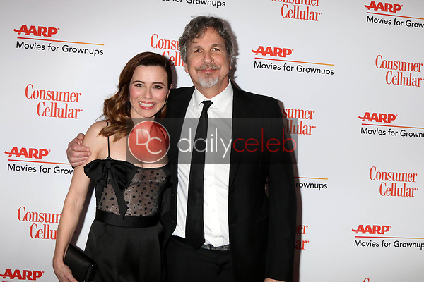 Linda Cardellini, Peter Farrelly<br /> at the AARP Movies for Growups Awards, Beverly Wilshire Hotel, Beverly Hills, CA 02-04-19<br /> David Edwards/DailyCeleb.com 818-249-4998