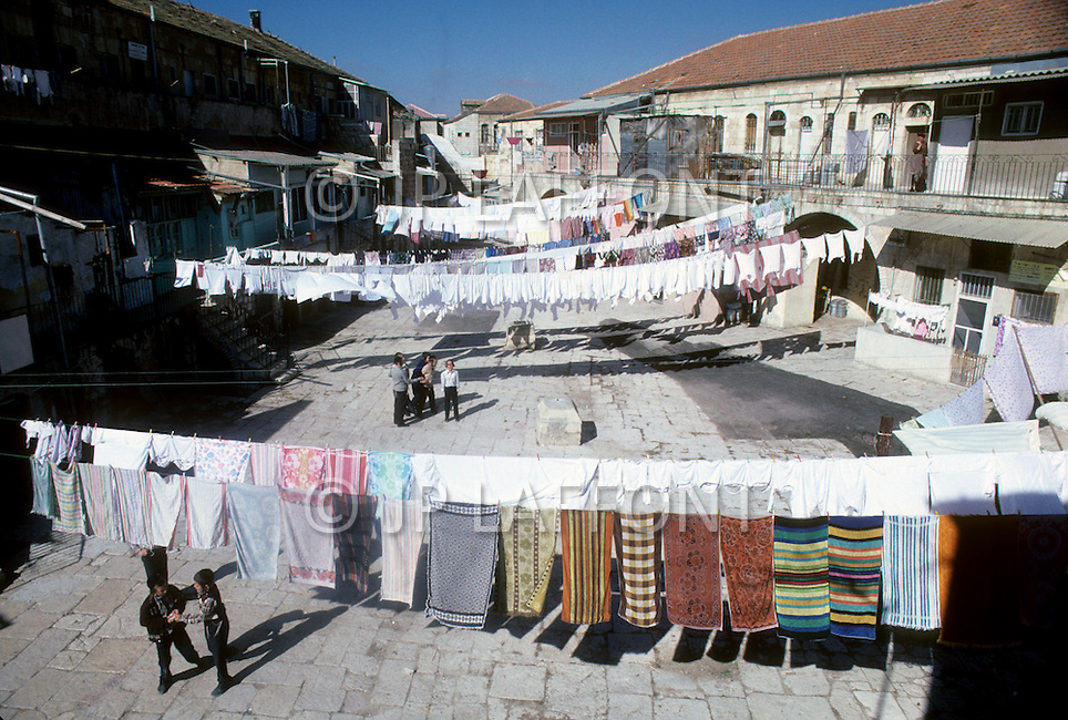 Jerusalem, Israel, November, 1980. Mea Shearim, Jewish Orthodox area.