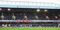Blackburn Rovers fans watch their team in action <br /> <br /> Photographer Chris Vaughan/CameraSport<br /> <br /> The EFL Sky Bet Championship - Sheffield United v Blackburn Rovers - Saturday 29th December 2018 - Bramall Lane - Sheffield<br /> <br /> World Copyright &copy; 2018 CameraSport. All rights reserved. 43 Linden Ave. Countesthorpe. Leicester. England. LE8 5PG - Tel: +44 (0) 116 277 4147 - admin@camerasport.com - www.camerasport.com