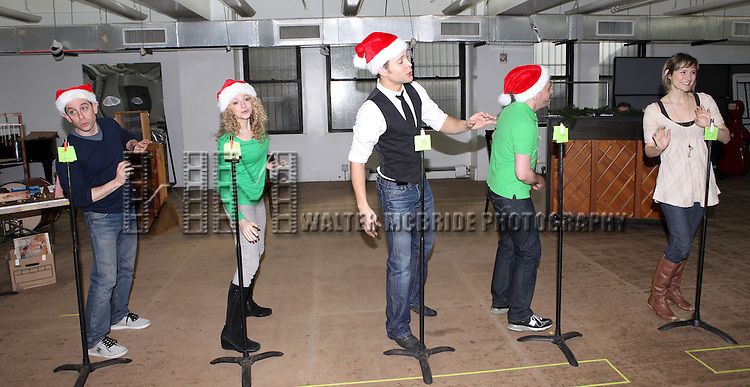 Garth Kravits, Lauren Molina, Justin Guarini, Mark Price & Jill Paice  attending the Rehearsal for the Bucks County Playhouse production of 'It's a Wonderful Life - A Live Radio Play' at their rehearsal studios in New York City on December 5, 2012.
