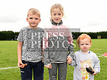 Alex Larkin, Robyn Corrigan and Riley Larkin at the Oliver Plunketts Family Fun Day. Photo:Colin Bell/pressphotos.ie