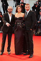 Adele Exarchopoulos, Matthias Schoenaerts and Michael Roskam walk the red carpet ahead of the 'Racer And The Jailbird (Le Fidele)' screening during the 74th Venice Film Festival at Sala Grande on September 8, 2017 in Venice, Italy.<br /> CAP/GOL<br /> &copy;GOL/Capital Pictures