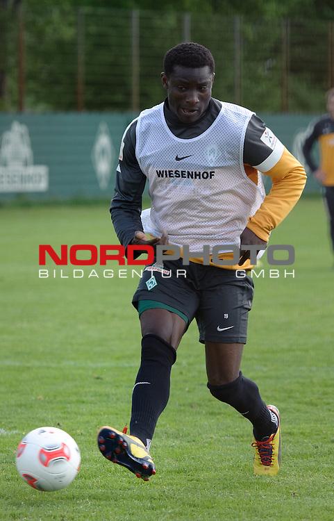 14.05.2013, Trainingsgelaende, Bremen, GER, 1.FBL, Training Werder Bremen, im Bild Joseph Akpala (Bremen #19)<br /> <br /> Foto &copy; nph / Frisch