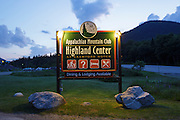 The Appalachian Mountain Club's Highland Center located at the start of Crawford Notch State Park in the White Mountains, New Hampshire USA.