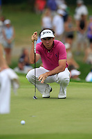 \\ lines up his putt on the 8th green during Thursday's Round 1 of the 2014 PGA Championship held at the Valhalla Club, Louisville, Kentucky.: Picture Eoin Clarke, www.golffile.ie: 7th August 2014