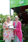 Director General of the RHS Sue Biggs receives the; Garden Event of the Year award - At the RHS Hampton Court Flower show, London 29.6.15