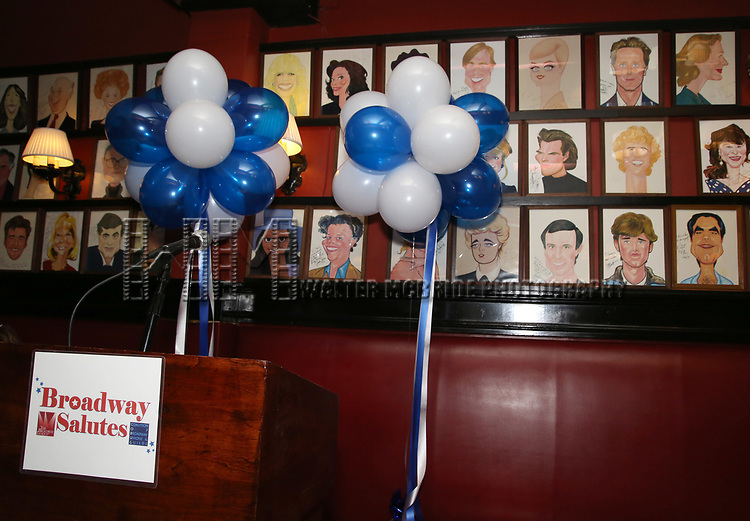 Atmosphere at the  The Broadway League and the Coalition of Broadway Unions and Guilds (COBUG) presents the 9th Annual Broadway Salutes at Sardi's on November , 2017 in New York City.
