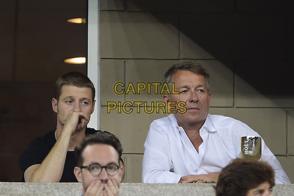FLUSHING NY- AUGUST 30:  Ben McKenzie, Sean Pertwee are seen watching Eugenie Bouchard Vs Barbora Zahiavova Strycova on Arthur Ashe stadium at the USTA Billie Jean King National Tennis Center on August 30, 2014 in Flushing Queens. <br /> CAP/MPI/MPI04<br /> &copy;MPI04/MPI/Capital Pictures