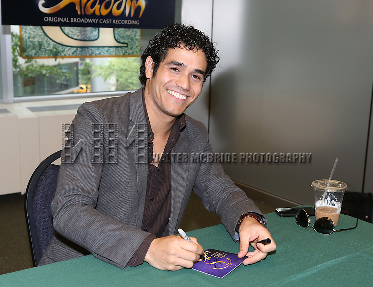 Adam Jacobs attends the 'Aladin' Broadway Cast CD Signing at Barnes & Noble Citigroup Center on June 20, 2014 in New York City.