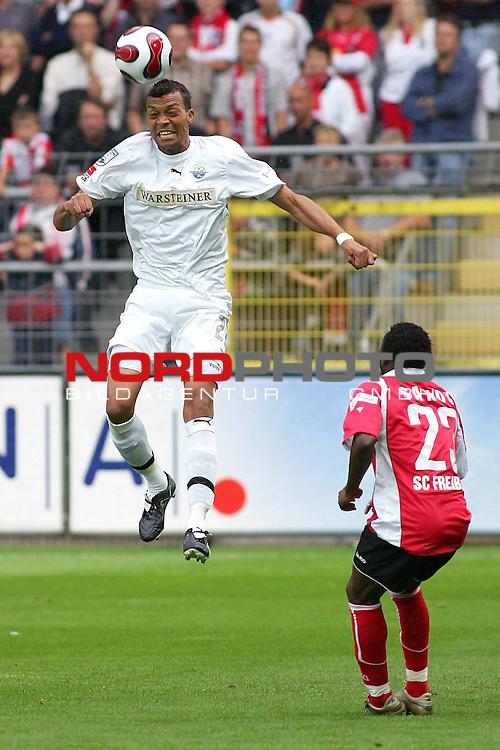 2. FBL  2007/2008 2. Spieltag Hinrunde<br /> SC Freiburg vs. SC Paderborn<br /> <br /> Emil Noll, (SC Paderborn #27)<br /> <br /> Foto: &copy; nph (  nordphoto  )
