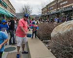 David Horn helps son Corbin collect eggs during the Easter Egg Hunt at Legends in Sparks, Nevada on Saturday, April 20, 2019.