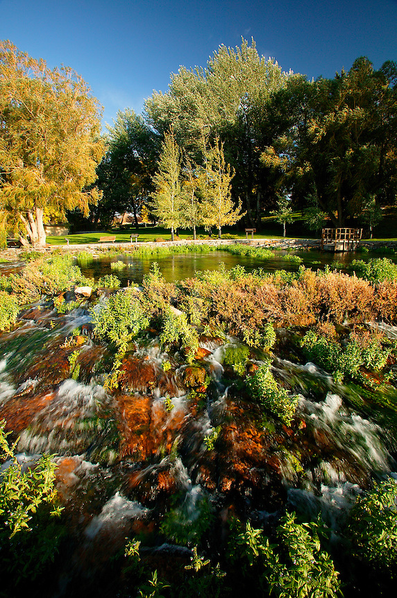 This Spring, originally discovered by Lewis and Clark is one of the most productive springs in the world, Giant Spring Heritage State Park, Great Falls, Montana.