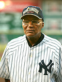 Washington, D.C. - August 11, 2006 -- Former Negro Leagues player Al Burrows, who pitched for the New York Black Yankees in 1954 is introduced prior to the game between the visiting New York Mets and the Washington Nationals at RFK Stadium in Washington, D.C. on Friday, August 11, 2006.   In honor of Negro Leagues Appreciation Night, the teams are wearing the uniforms of the Homestead Grays (Nationals) and New York Cubans (Mets).   Burrows played for the Indianapolis Clowns from 1955 through 1962.<br /> Credit: Ron Sachs / CNP<br /> (RESTRICTION: No New York Metro or other Newspapers within a 75 mile radius of New York City)
