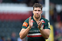 A dejected Graham Kitchener of Leicester Tigers acknowledges the crowd after the match. Aviva Premiership match, between Leicester Tigers and Northampton Saints on April 14, 2018 at Welford Road in Leicester, England. Photo by: Patrick Khachfe / JMP