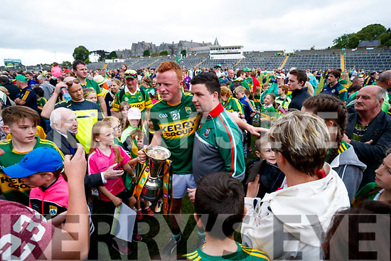 Johnny Buckley poses with fans after the Munster Senior Football Final at Fitzgerald Stadium on Sunday.