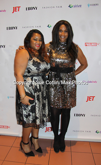 Jenna Bond poses with Beverly at Color of Beauty Awards honoring supermodel Beverly Johnson on February 4, 2014 at Holy Apostles, New York City, New York. (Photo by Sue Coflin/Max Photos)
