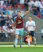Burnley Stephen Ward during the Premier League match between Tottenham Hotspur and Burnley at White Hart Lane, London, England on 27 August 2017. Photo by Andrew Aleksiejczuk / PRiME Media Images.