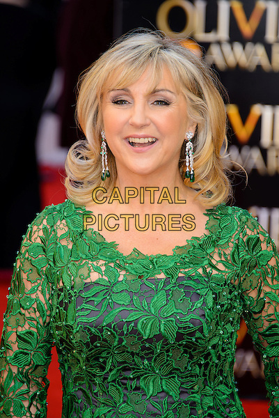 LONDON, ENGLAND - APRIL 13: Lesley Garrett attends the Olivier Awards 2014 at the Royal Opera House on April 13, 2014 in London, England. <br /> CAP/CJ<br /> &copy;Chris Joseph/Capital Pictures