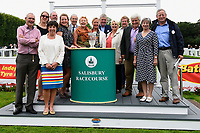 Connections of Love and Be Loved and Sponsors during Afternoon Racing at Salisbury Racecourse on 7th August 2017
