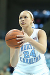 25 November 2012: North Carolina's Whitney Adams. The University of North Carolina Tar Heels played the UNC Asheville Bulldogs at Carmichael Arena in Chapel Hill, North Carolina in an NCAA Division I Women's Basketball game. UNC won the game 101-42.