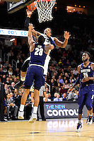 Wednesday, January 4, 2016: Georgetown Hoyas guard Rodney Pryor (23) tries to stop Providence Friars forward Emmitt Holt's (15) layup during the NCAA basketball game between the Georgetown Hoyas and the Providence Friars held at the Dunkin Donuts Center, in Providence, Rhode Island. Providence defeats Georgetown 76-70 in regulation time. Eric Canha/CSM